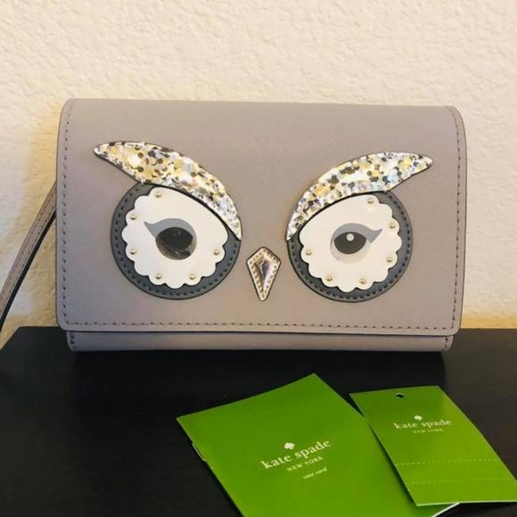 388b533ec456d Kate Spade Summer Star Bright Owl crossbody bag
